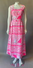 Load image into Gallery viewer, Amazing Mod DayGlo Pink Skort Maxi Dress