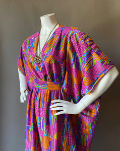 O'pell Op Art Long Fitted Torso Caftan