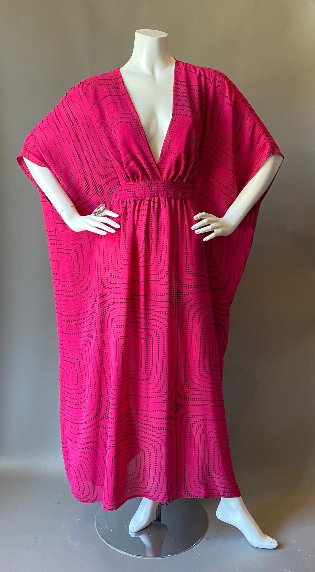 O'pell Op Art Sheer Sexy long torso Caftan