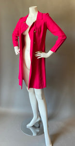 Raspberry Pink Cocktail Coat