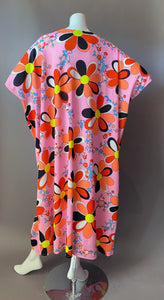 O'pell Mod Happy Days Print long torso Caftan