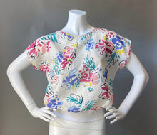 Load image into Gallery viewer, 1980s Floral Sheer Blouse