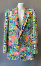 Load image into Gallery viewer, Rare Mens Lilly Pulitzer Patchwork Print Blazer Jacket 12