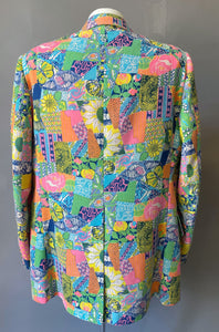 Rare Mens Lilly Pulitzer Patchwork Print Blazer Jacket 12