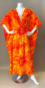 O'pell Orange Explosion Long Torso Caftan