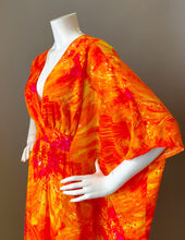 Load image into Gallery viewer, O'pell Orange Explosion Long Torso Caftan