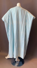 Load image into Gallery viewer, O'pell Striped Blue Long Torso Caftan