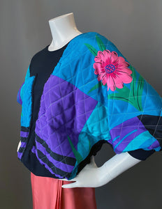 1980s Quilted Patchwork Puffy Sweatshirt