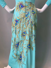 Load image into Gallery viewer, Amazing Peacock Print Cocktail Maxi Dress
