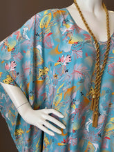 Load image into Gallery viewer, O'pell Poolside Print Draping Panel Tunic Caftan