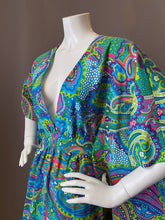 Load image into Gallery viewer, O'pell Cotton Mod Print Long Torso Caftan