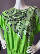 Load image into Gallery viewer, Vintage 1980s And God Created Woman Snake Print Dress