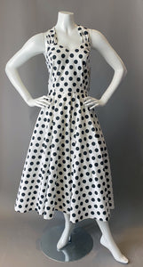 1980s New with Tags Polka Dot Halter Sun Dress