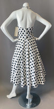 Load image into Gallery viewer, 1980s New with Tags Polka Dot Halter Sun Dress