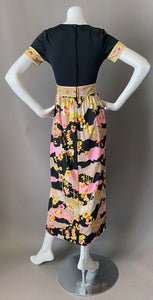 Vintage Mr.Dino Mod Maxi Print Dress