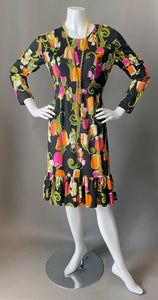 Cute Mod Floral Print Day Dress