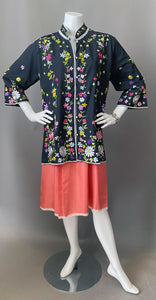 Beautiful Embroidery Lightweight Jacket Tunic