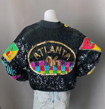 Load image into Gallery viewer, Rare 1996 Atlanta Olympic Games Sequin Bomber Jacket