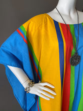 Load image into Gallery viewer, O'pell Happy Rainbow Stripe Tunic Caftan