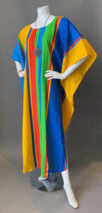 O'pell Happy Rainbow Stripe Tunic Caftan
