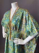 Load image into Gallery viewer, O'pell Chic Mod Printed Acetate Long Torso Caftan and Matching Mask