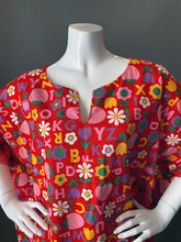Load image into Gallery viewer, O'pell Mod Alphabet Floral Print Tunic Caftan