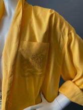 Load image into Gallery viewer, 1980s Yellow Oversize Lightweight Blazer Coat NWT