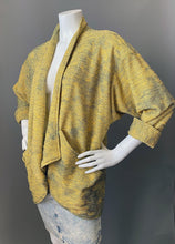 Load image into Gallery viewer, 1980s Oversize Asymmetrical Knit Blazer Coat