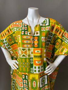 O'pell Mod Happy Days Cotton Print Tunic Caftan