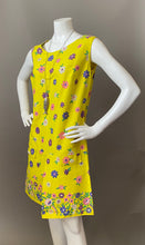 Load image into Gallery viewer, Mod Sunny Floral Border Print Cotton Sun Dress