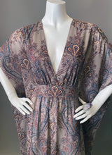 Load image into Gallery viewer, O'pell Sheer Paisley Long Torso Caftan