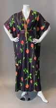 Load image into Gallery viewer, Vintage Rose Print Semi Sheer Caftan