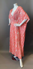Load image into Gallery viewer, O'pell Pink Zebra Print Knit Xtra Long Torso Caftan