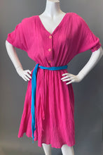 Load image into Gallery viewer, Vintage 80s Pink Gauze Sun Dress