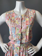 Load image into Gallery viewer, Vintage 80s Halter Crisscross Pink Floral Cotton Sun Dress