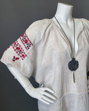 Load image into Gallery viewer, Antique Bohemian Hungarian Home Spun Linen Embroidery Tunic