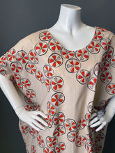 Load image into Gallery viewer, O'pell Mod Lotus Root Print Cotton Tunic Caftan