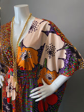 Load image into Gallery viewer, O'pell Amazing Mod Floral Long Torso Caftan with Matching Mask