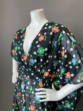 Load image into Gallery viewer, O'pell Mod Sheer Floral Long Torso Caftan with Matching Mask