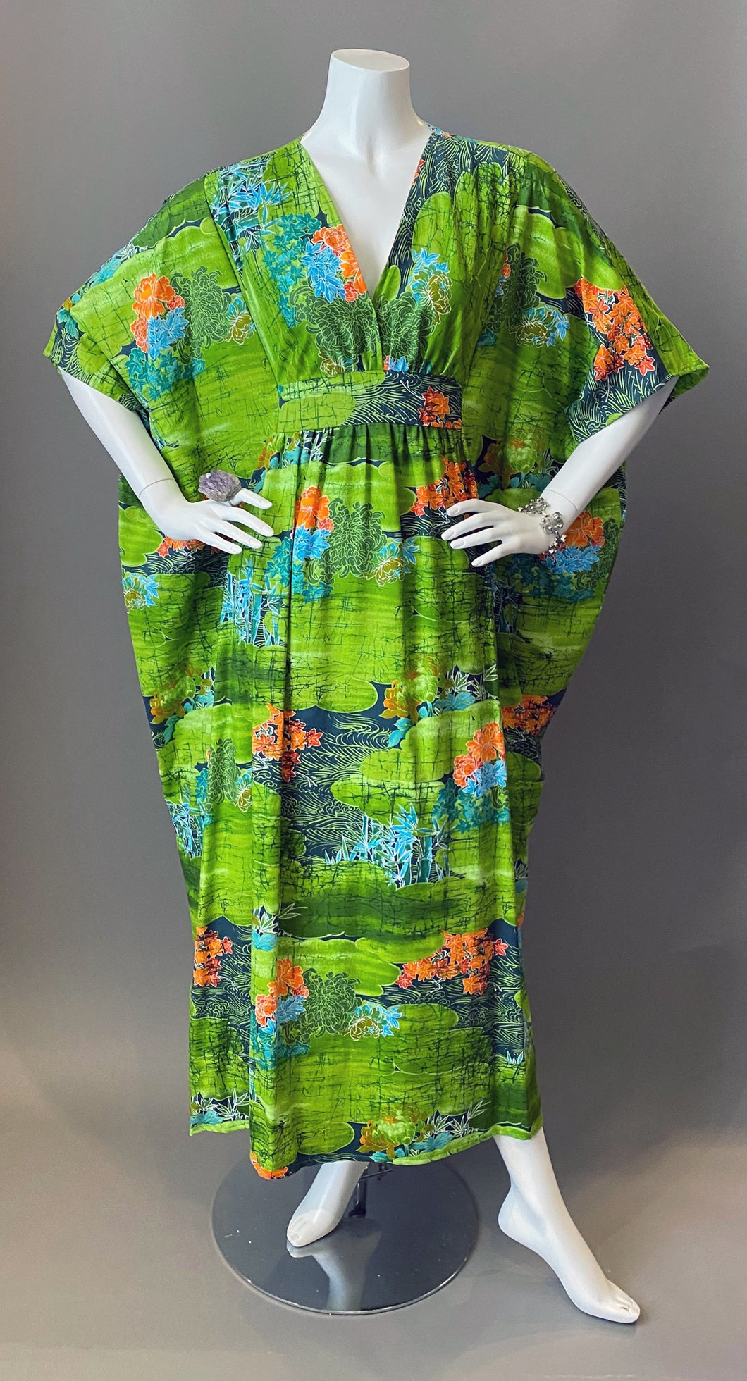 O'pell Japanese Garden Cotton Short Torso Caftan