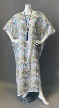 Load image into Gallery viewer, O'pell New Floral Sheer Cotton Tunic Caftan