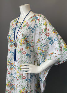 O'pell New Floral Sheer Cotton Tunic Caftan