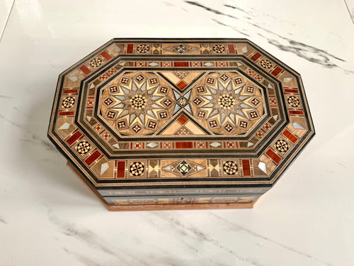 Small Gorgeous Mosaic Middle Eastern Ring Box