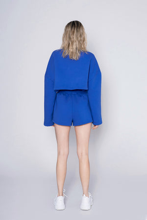 CROPPED SWEATSHIRT 01 - deep blue