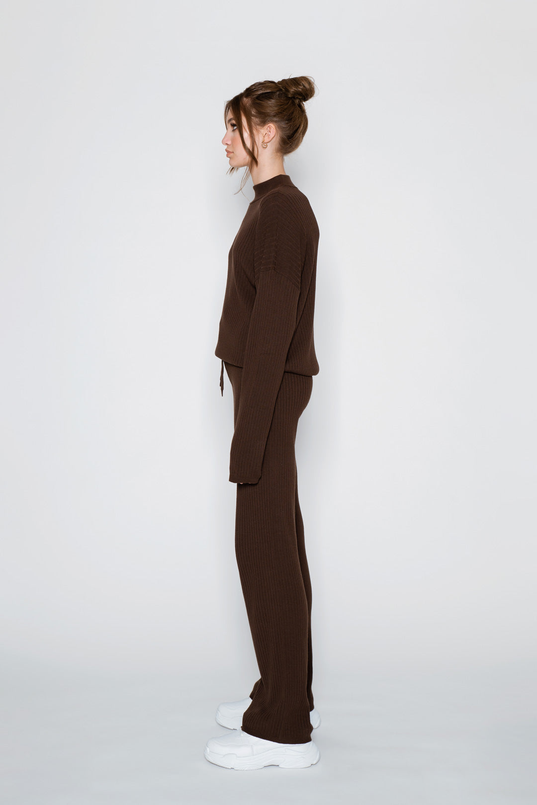 RIBBED PANT - brown