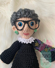 Load image into Gallery viewer, RBG Ruth Bader Ginsburg Crochet Doll