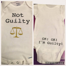 Load image into Gallery viewer, Lawyer Baby Shower Gift Pack Bodysuits (3 bodysuits)