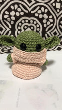 Load image into Gallery viewer, Green Space Child Crocheted Plush