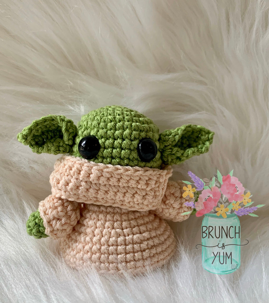 Green Space Child Crocheted Plush