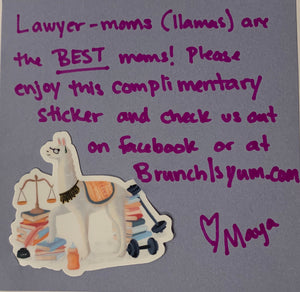 Lawyer Mom Sticker